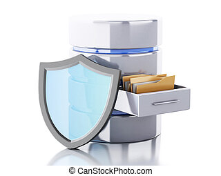 3d Data storage with shield.