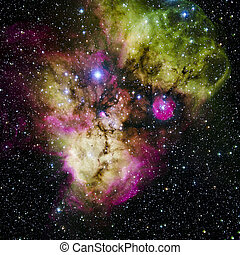 Stars nebula in space. Elements of this image furnished by...