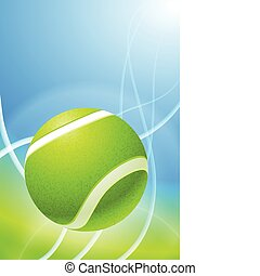 Tennis Ball on Abstract Background Original Vector...