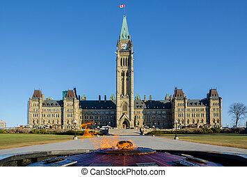 Parliament building in Ottawa, Canada - Centre Block, Peace...