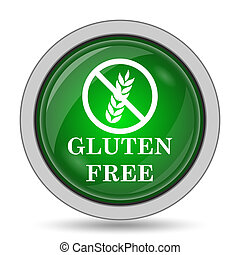 Gluten free icon. Internet button on white background.