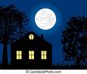 House in the night