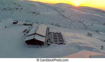 Ski Resort In The Morning