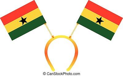 Headgear flag Ghana - Headdress with a flag of Ghana for...