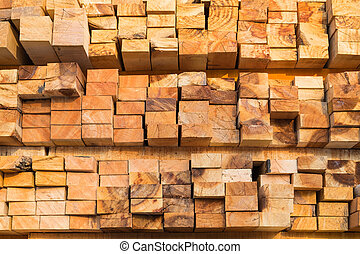 Stack of pile wood
