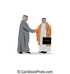 Two businessmen from the Middle East Vector Illustration -...