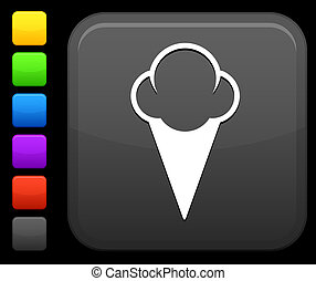 icecream icon on square internet button