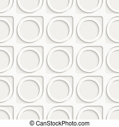 Seamless Circle and Ring Pattern. Soft Background. Regular...