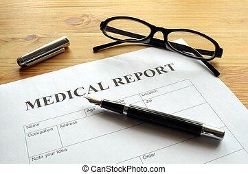 relatório, médico