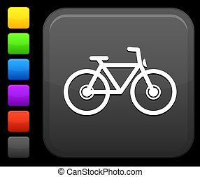 bycicle icon on square internet button - Original vector...