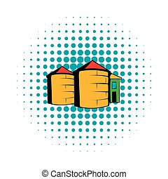 Granaries for storing, comics style - Granaries for storing...