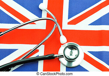 British flag concept  with stethoscope