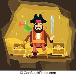 Pirate with gold