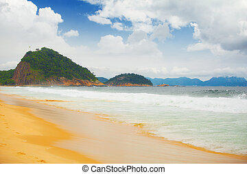 Copacabana beach - Copacabana brazilian beach in Rio de...