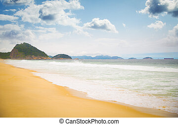 Copacabana beach - Copacabana . brazilian beach in Rio de...