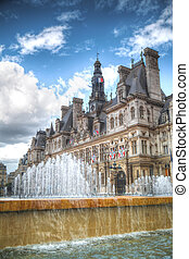 Paris City Hall Hotel de Ville - France Paris City Hall...