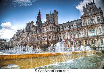Paris City Hall (Hotel de Ville) - France. Paris City Hall...