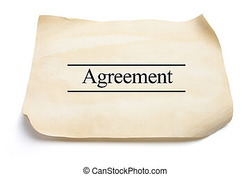 Agreement on White Background