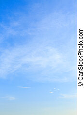 clear blue sky and white cloud with wind