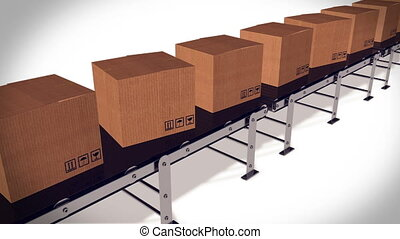 Packages delivery and mail service shipment concept....