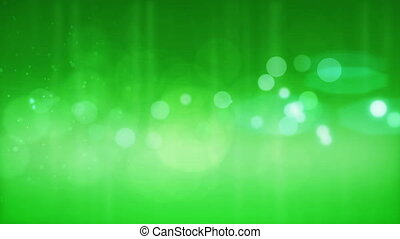 Abstract green bokeh background. Loopable.