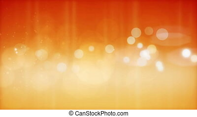 Abstract orange particles background. Loop.