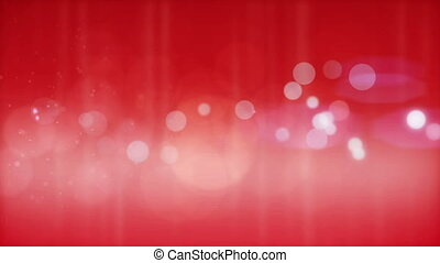 Beautiful red  particles background. Loop.