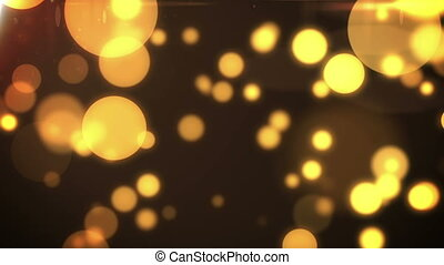 Flickering Particles Loop background. Yellow