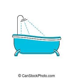 Logo of bath Bathroom shower vector icon