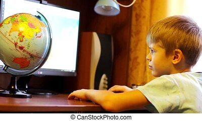 child is doing on the computer