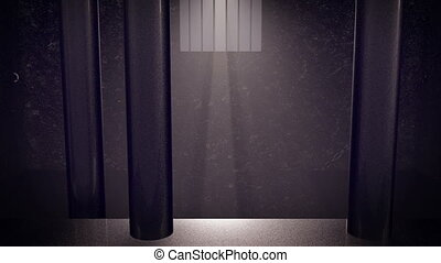 """3D Secure prison. Sunlight through the window."" - ""A jail..."