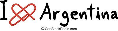 Argentina love icon - Creative design of Argentina love icon