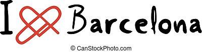 Barcelona love icon - Creative design of Barcelona love icon