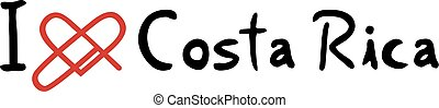 Costa Rica love icon - Creative design of Costa Rica love...