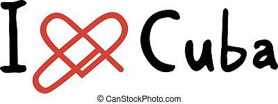 Cuba love icon - Creative design of Cuba love icon