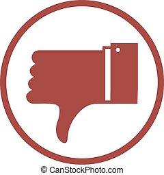 dislike sign - Creative design of dislike sign