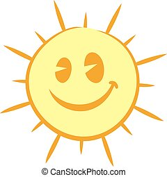 happy sun face - Creative design of happy sun face