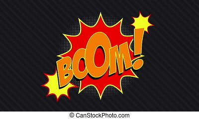 """Boom! Bang! Zap! "" - ""3 words BOOM!, BANG!, ZAP! with matte..."