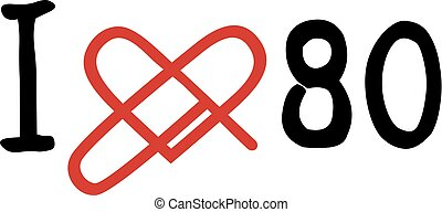Love 80 icon - Creative design of Love 80 icon