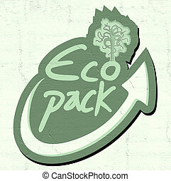 eco pack icon - Creative design of eco pack icon