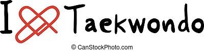 taekwondo love icon - Creative design of taekwondo love icon