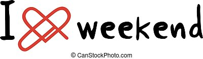 weekend love icon - Creative design of weekend love icon