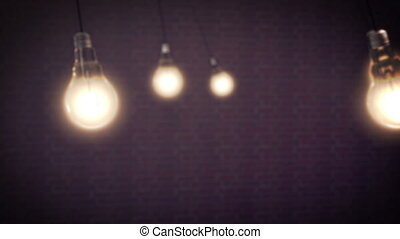 Light Bulbs Animation on a black background