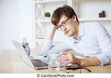 Businessman at office desk