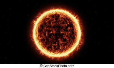 """Sun Surface"" - ""Sun Surface And Solar Flares Animation"""