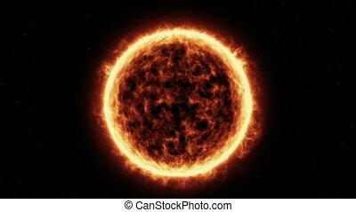 """""""Sun Surface"""" - """"Sun Surface And Solar Flares Animation"""""""