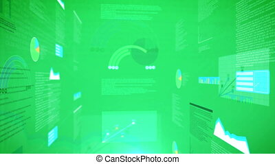 quot;abstract animation of financial stock dataquot; -...