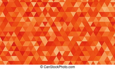 """Abstract background loop of orange triangles in a geometric..."