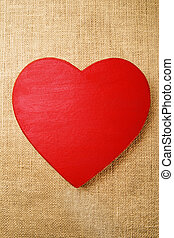 Love - Stock image of hand painted Papier-m?ch? heart over...