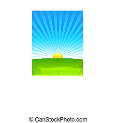 Sunny Daytime Background Original Vector Illustration